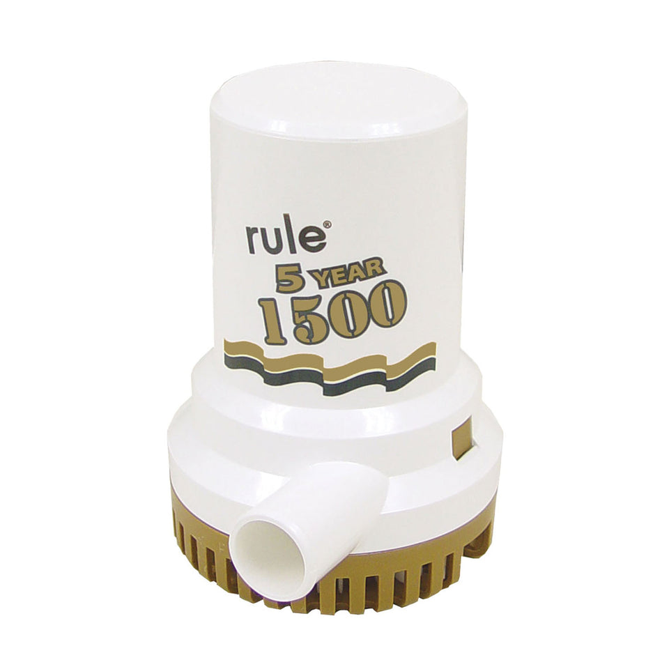 "Rule 1500 G.P.H. ""Gold Series"" Bilge Pump"