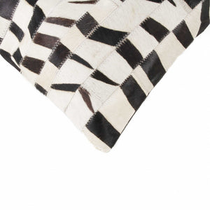 "HomeRoots Kitchen Handcrafted Decorative Square Pillow with Hidden Zipper Closure - 18"" x 18"" x 5"", Zebra"