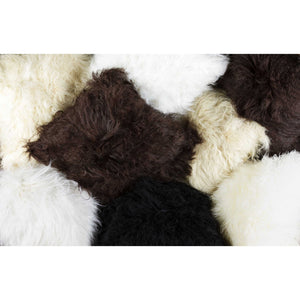 "HomeRoots Kitchen Modern Decorative Sheepskin Pillow - 12"" x 20"" x 5"", Black"