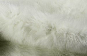"63""x 90"" Faux Hide, Area Rug - Off White"