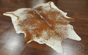 "60""x 84"" Salt And Pepper Brown And White Cowhide - Area Rug"