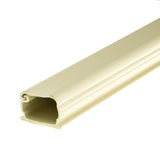 3/4 inch Surface Mount Cable Raceway, Ivory, Straight 6 foot Section