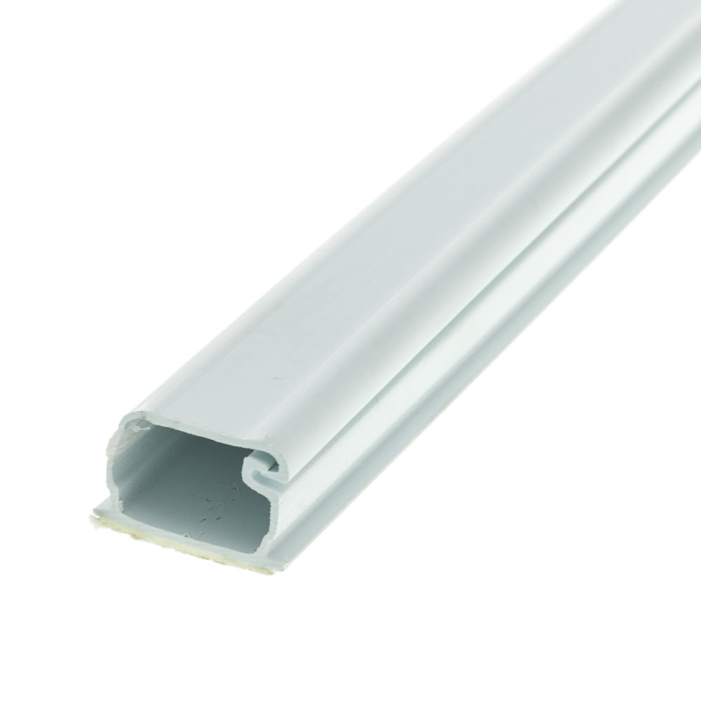3/4 inch Surface Mount Cable Raceway, White, Straight 6 Foot Section
