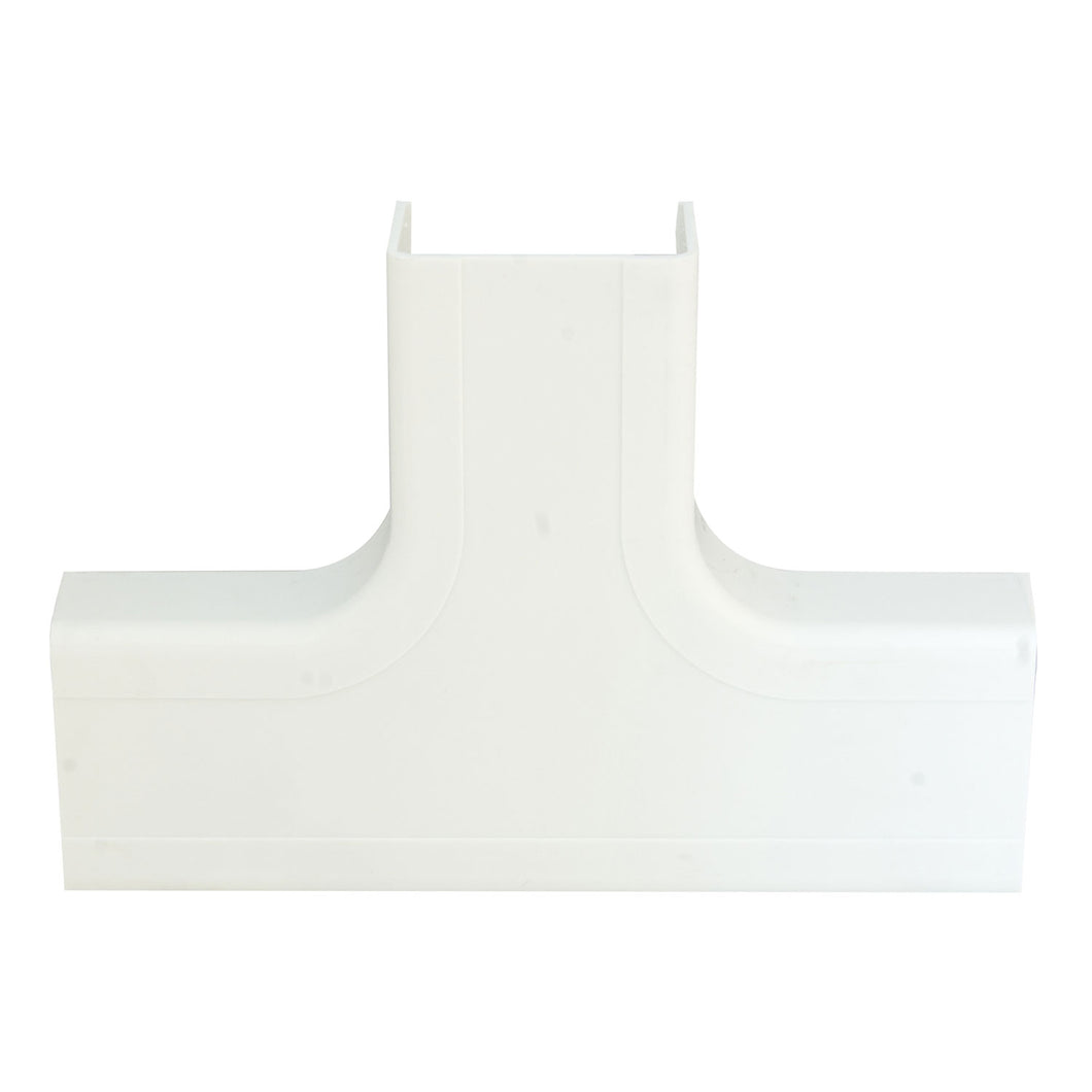 1.75 inch Surface Mount Cable Raceway, White, Tee