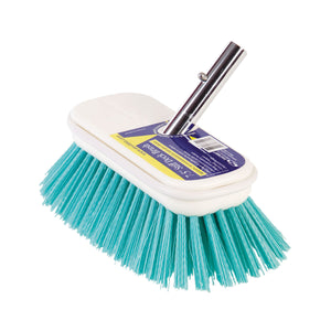 "Swobbit 7.5"" Marine Boat General Purpose Surface Dust Stain Cleaning Stiff Brush - Blue"