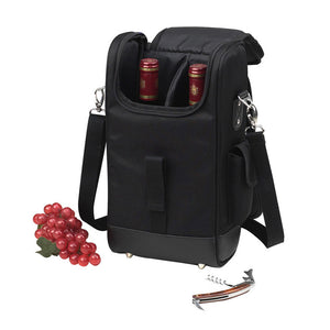 Two Bottle Carrier - Black 325NY-BLK
