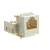 Keystone Insert, White, Phone Jack, Tooless, RJ11 / RJ12 Female to Wire Insert