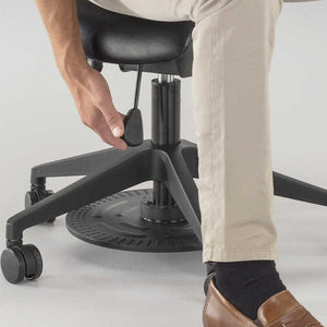 Safco Saddle Seat Lab Stool adjustable-home-desk-chairs, Black