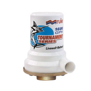 Rule Tournament Series Bronze Base 1600 GPH Livewell Pump