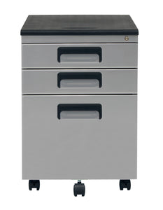 3 Drawer Metal Rolling File Cabinet with Locking Drawers