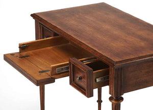 Butler Edmund Cherry Veneer Wood Finish Writing Desk - Medium Brown