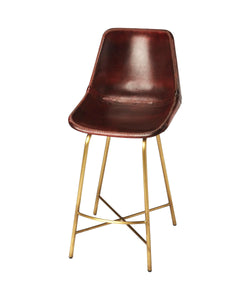 Butler Transitional Commercial Leather Rectangular Bar Stool - Multicolor