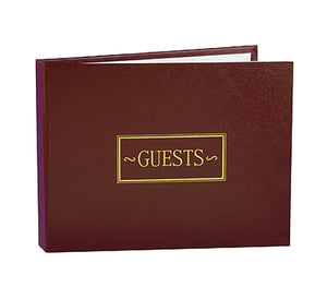 Hortense B. Hewitt Wedding Accessories Guest Book, Burgundy, 7.5-Inches x 5.75-Inches