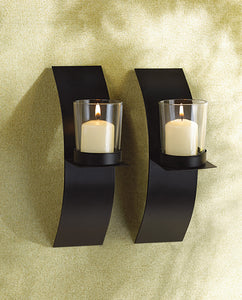 Koehler Home Decor Modern Art Candle Sconce Duo
