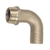 "Perko 1-1/4"" Pipe to Hose Adapter 90 Degree Bronze MADE IN THE USA"