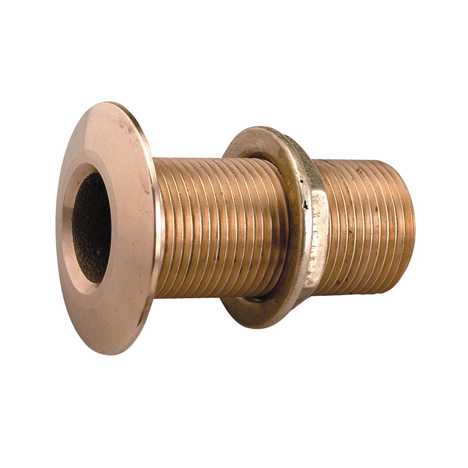 "Perko 1-1/4"" Thru-Hull Fitting With Pipe Thread Bronze Made In The USA"