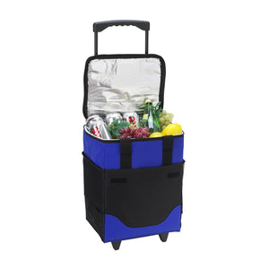 32 Can Collapsible Rolling Cooler-Royal Blue