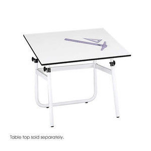 Safco Products Horizon Drawing Table Base for use with 3951 Table Top, sold separately, White