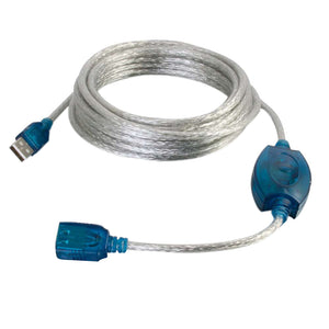 5m USB 2.0 A Male to A Female Active Extension Cable - Beige