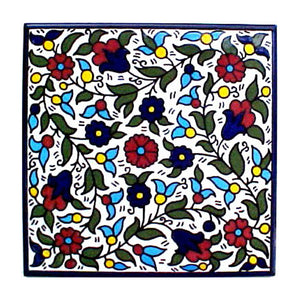 Bethlehem Lighting Wholesale Christian Gifts Holy Decorative Floral Design Armenian Ceramic Tile