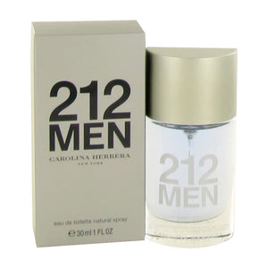 Carolina Herrera 212 Eau de Toilette Spray for Men, 1.0 Fl. Oz