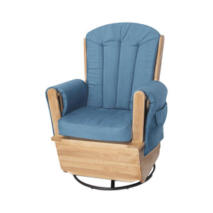 SafeRocker Swivel Glider - Natural/Blue