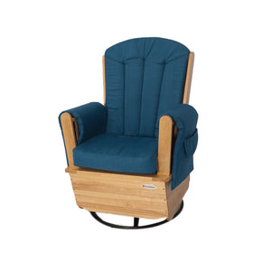 SafeRocker Glider Rockers with Metal Base - Natural/Blue