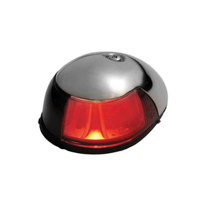 Attwood 2-Mile Deck Mount Red Sidelight 12V Stainless Steel Housing