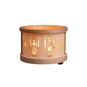 "Glasser 4420 Richard Glaesser Tea Light Luminary-Angel/Miner-2.5"" H W x 3"" D, Brown"