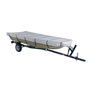 Dallas Manufacturing Co. 300D Jon Boat Cover - Model B - Fits 14' with Beam Width to 70""