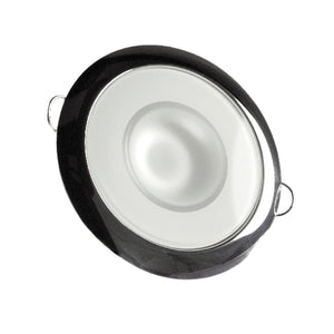 Lumitec 113113 Mirage LED Exterior or Interior Down Light, Flush Mount, Stainless Steel Polished Bezel, White Non-Dimming, Non-TTP