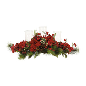 Hydrangea Holiday Candelabrum Red/Green