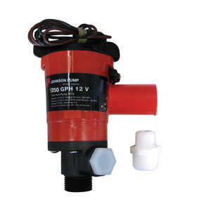 Johnson Pump Twin Port 1250 GPH Livewell Aerating Pump - 12V