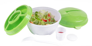 Salad To-Go Container With Locking Lid Tabs