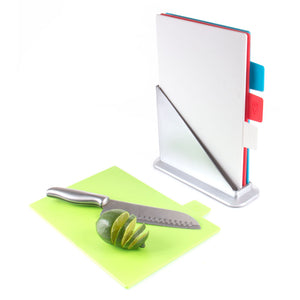 5 Piece Color Coded Chopping Board With Stand