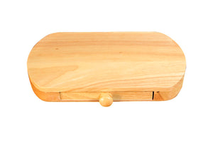 5-Piece Set Wood Cheese Board With Slide-Out Drawer & Accessories
