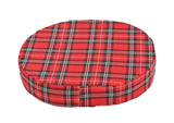 "Donut Cushion 18"" Red Plaid"