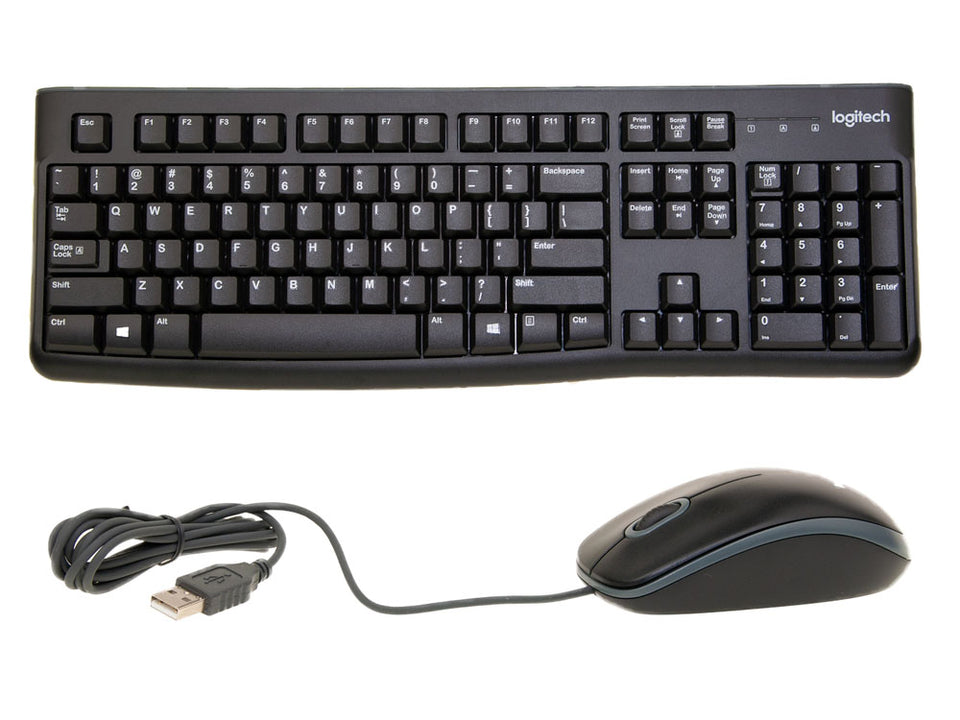 Logitech MK-120 USB Keyboard and Mouse Combo, Black