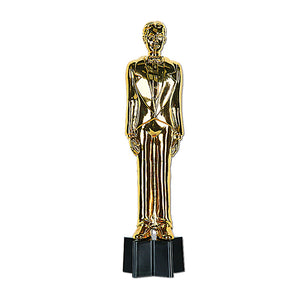 Beistle 50285 6-Pack Awards Night Male Statuette