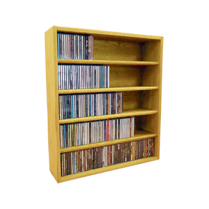 Cdracks Media Furniture Solid Oak Desktop or Shelf CD Cabinet Capacity 310 CD's Honey Finish