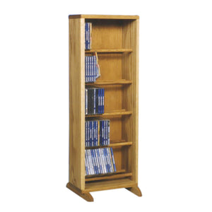Cdracks Media Furniture Solid Oak Dowel Cabinet for CD Capacity 130 CD's Honey Finish