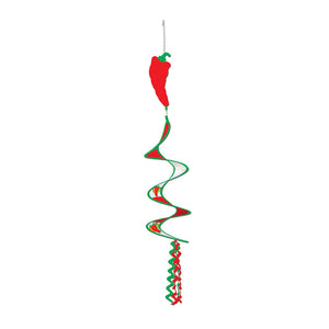 "Beistle Party Decoration Chili Pepper Wind-Spinner 3' 6"" - 12 Pack (1/Pkg)"