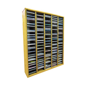 Cdracks Media Furniture Solid Oak Tower for CD Capacity 300 CD's Honey Finish (Individual Locking Slots)