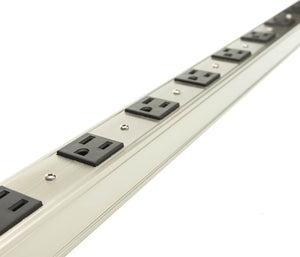 12 Outlet Vertical Rackmount Power Distribution Unit (PDU), Power Strip, 15A with 6 feet Power Cord