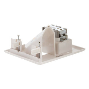 Cmple - Wall Plate - Recessed Low Voltage Wall Plate with Recessed Power - White