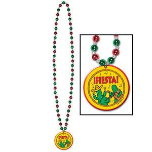 Beistle 54106 Beads With Fiesta Medallion44; Pack Of 12