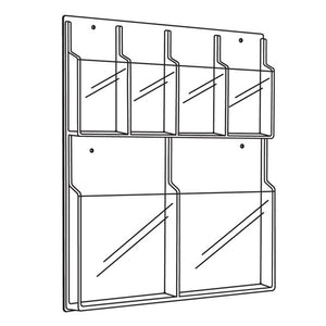 Safco Products Reveal 2 Magazine and 4 Pamphlet Display Rack in Clear Finish