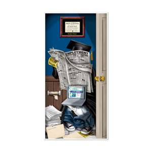 "Beistle Party Graduate Restroom Door Cover 30"" x 5' - 12 Pack (1/Pkg)"