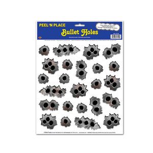 "Bullet Holes Peel 'N Place 12"" x 15"" Sheet - 12 Pack (24/Sheet)"
