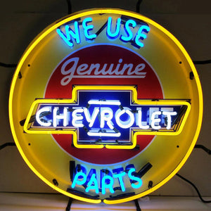 Neonetics 5CHVBK Chevrolet Parts Neon Sign with Backing